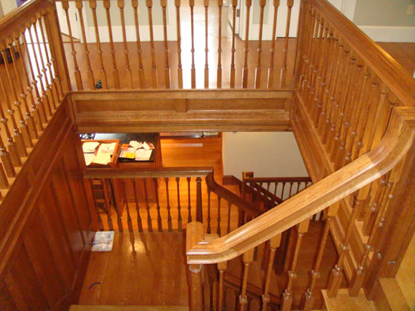 Finished Carpentry Stairway and Railings Fishlin Construction